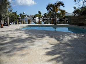 Beautifully Landscaped Pool Deck Installation 2