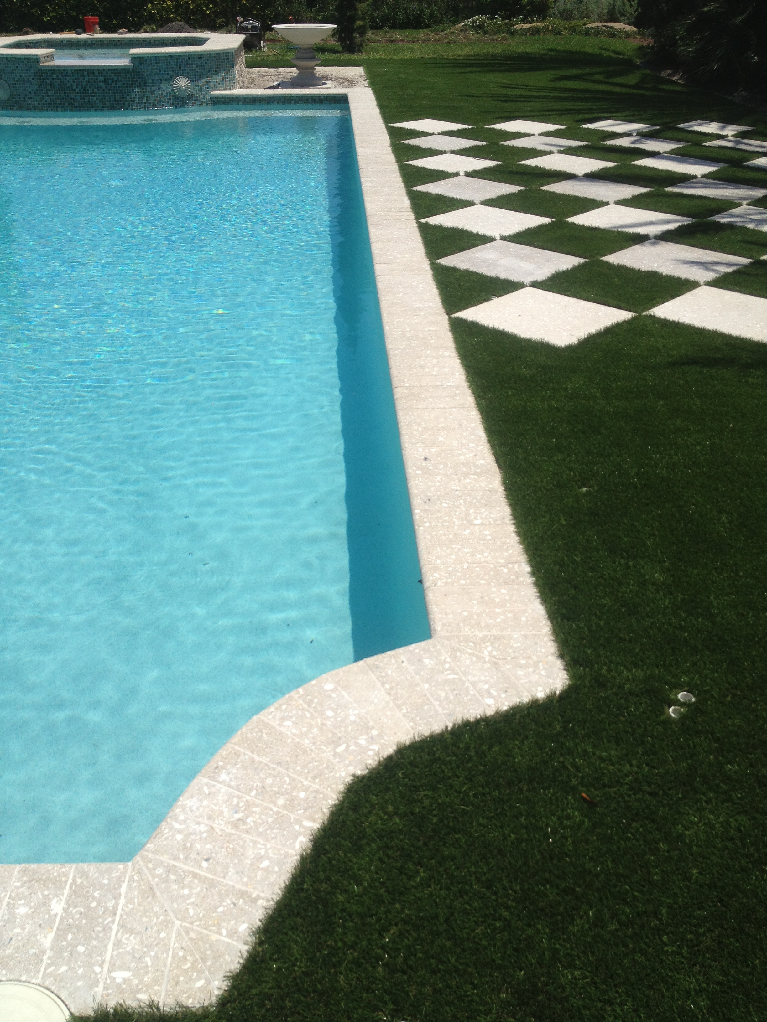 The pool deck marble stone pavers adds beauty | America Pavers
